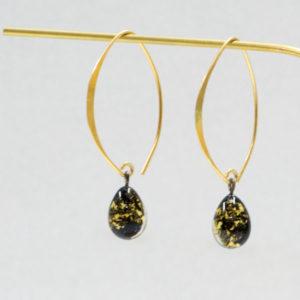 Boucles d'oreilles arabesque or