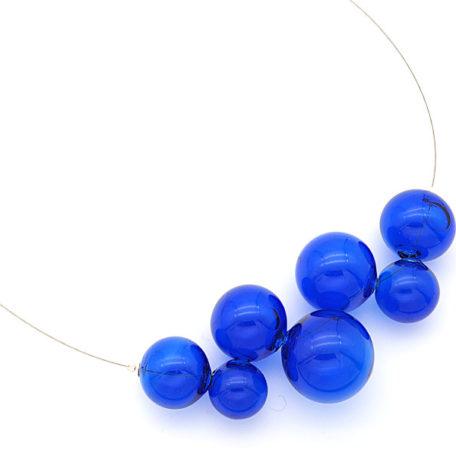 Collier bulles bleues